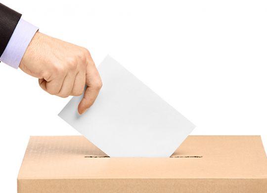 hádzanie volebného lístka